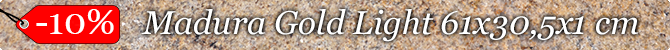 -10% na płytki Madura Gold Light 61 x 30,5 x 1 cm polerowane